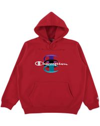 Supreme - Champion Stacked C Hooded Swea - Lyst
