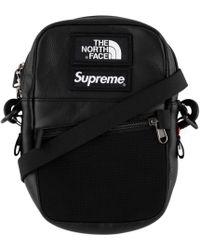 Supreme - Tnf Leather Shoulder Bag - Lyst