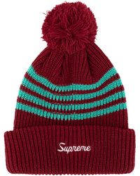 Supreme - 4-stripe Loose Gauge Beanie - Lyst