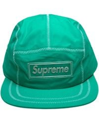 Supreme - Contrast Stitch Camp Cap - Lyst
