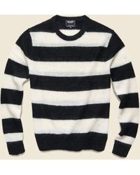 Todd Snyder - Italian Brushed Wool Rugby Striped Sweater In Charcoal/white - Lyst