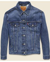 Levi's Premium - Ex-boyfriend Trucker Jacket - Groovemarks - Lyst