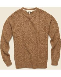 Barque - Marled Yarn Cable Sweater - Toffee - Lyst