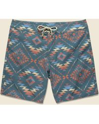 "Faherty Brand - Classic 7"" Boardshort - Chankillo Horizon - Lyst"