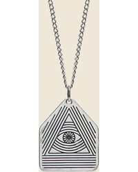 LHN Jewelry - All Seeing Eye Pendant - Silver - Lyst