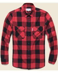 Penfield - Foster Flannel - Red - Lyst