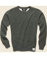 RRL - Cotton Wool Crewneck - Olive Heather - Lyst