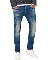 G-Star RAW - Medium Aged 3301 Slim Fit Jeans - Lyst