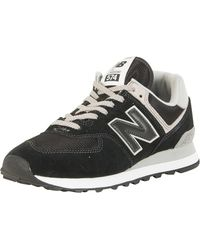 sale retailer 45df1 e04eb New Balance - Black 574 Trainers - Lyst