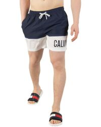 CALVIN KLEIN 205W39NYC - Blue Shadow Medium Drawstring Swim Shorts - Lyst