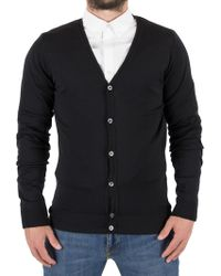 John Smedley - Black Petworth Longsleeved V-neck Cardigan - Lyst