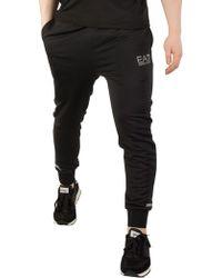 EA7 - Black Jersey Joggers - Lyst