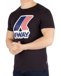 K-Way - Black Pete Macro Slim Fit T-shirt - Lyst