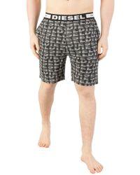 DIESEL - Black Tom Pyjama Shorts - Lyst