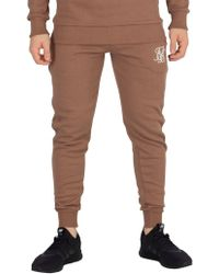 Sik Silk - Tan Muscle Fit Joggers - Lyst