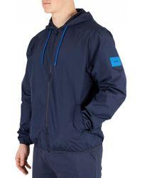 Calvin Klein - Blue Shadow Light Windbreaker Jacket - Lyst