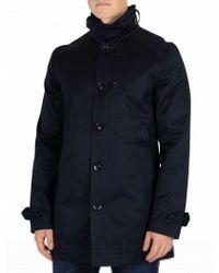 G-Star RAW - Mazarine Blue Garber Trench Coat - Lyst