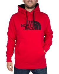 The North Face - Red/red Drew Peak Graphic Hoodie - Lyst