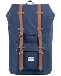 Herschel Supply Co. - Navy/tan Little America Straps Backpack - Lyst