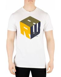 629854f72d1 G-Star RAW - White Graphic T-shirt - Lyst