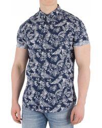 Superdry - Tropical Fern Navy Shoreditch Buttoned Down Shirt - Lyst