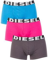 DIESEL - Grey/blue/pink 3 Pack Shawn Seasonal Trunks - Lyst