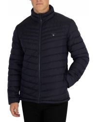 GANT - Navy The Airlight Down Jacket - Lyst