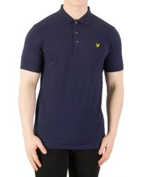 Lyle & Scott - Navy Logo Polo Shirt - Lyst