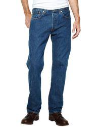 ea9005fb Levi's - Stonewash 501 Original Fit Denim Jeans - Lyst