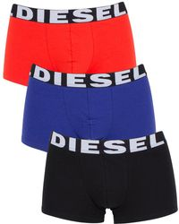 DIESEL - Black/blue/red Umbx Shawn 3 Pack Trunks - Lyst