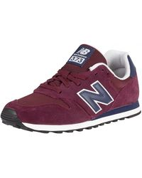 official photos 21761 59719 New Balance - Burgundynavy 373 Suede Trainers - Lyst