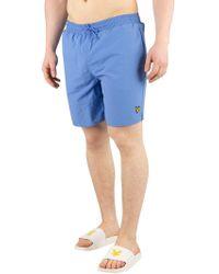 Lyle & Scott - Cornflower Blue Plain Swim Shorts - Lyst