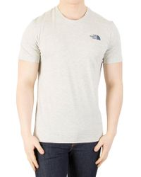 The North Face - Oatmeal Heather Simple Done T-shirt - Lyst