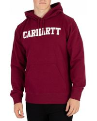 ea9530d1 Carhartt WIP - Mulberry/white College Pullover Hoodie - Lyst
