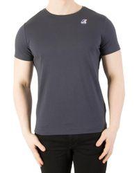 K-Way - Blue Depht Le Vrai 3.0 Edouard T-shirt - Lyst