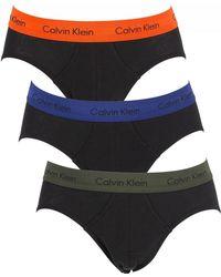 Calvin Klein - Forest Night/dark Night/orange 3 Pack Hip Briefs - Lyst