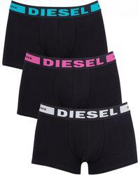 DIESEL - White/pink/blue 3 Pack Kory Instant Looks Trunks - Lyst