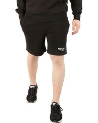 Nicce London - Black Original Logo Shorts - Lyst