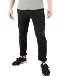 Jack & Jones - Black Denim Tim Original 703 Slim Fit Jeans - Lyst