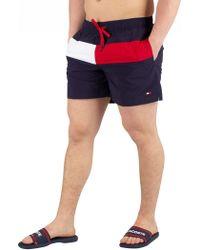 7c92549689f8c Tommy Hilfiger - Navy Blazer Medium Drawstring Swimshorts - Lyst