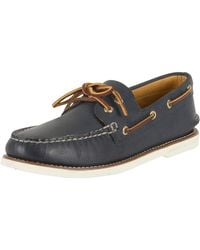 Sperry Top-Sider - Men ́s Authentic Original Leather Hand-sewn 2-eye Perfed Boat Shoes - Lyst