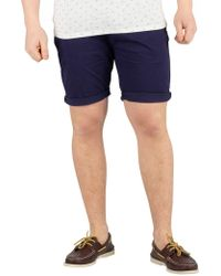 Scotch & Soda - Navy Chino Shorts - Lyst