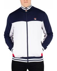 f5bfd4c9b7 Fila Vintage Peacoat/chinese Red/cream Naso Chest Stripe Track Jacket in Red  for Men - Lyst