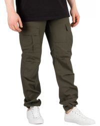Carhartt WIP - Cypress Rinsed Aviation Slim Fit Cargos - Lyst