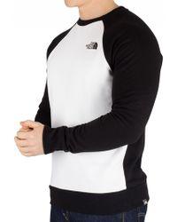 The North Face White Raglan Redbox Sweatshirt