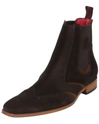 Jeffery West - Ante Vacuno Dark Brown/ante Vacuno Tan Scarface Boots - Lyst