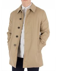 Aquascutum - Camel Berkeley Raincoat - Lyst