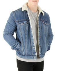 Levi's - Needle Park Type 3 Sherpa Trucker Jacket - Lyst