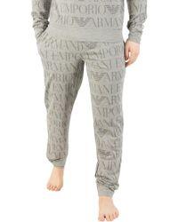 Emporio Armani - Grey All Over Print Pyjama Bottoms - Lyst