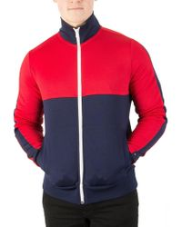 Tommy Hilfiger - Navy Blazer/multi Sporty Tech Zip Jacket - Lyst